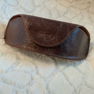 Fossil Accessories - NWOT-Fossil Brown Distressed Leather Sunglass Case